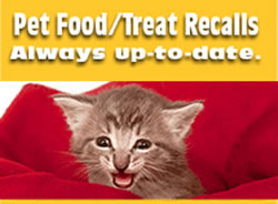 Pet Food/ Treat Recalls, always up to date